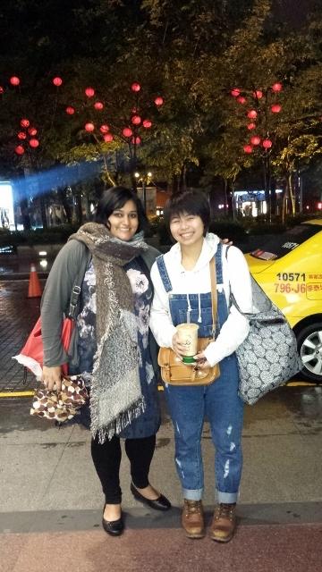 Liya and I in Taichung