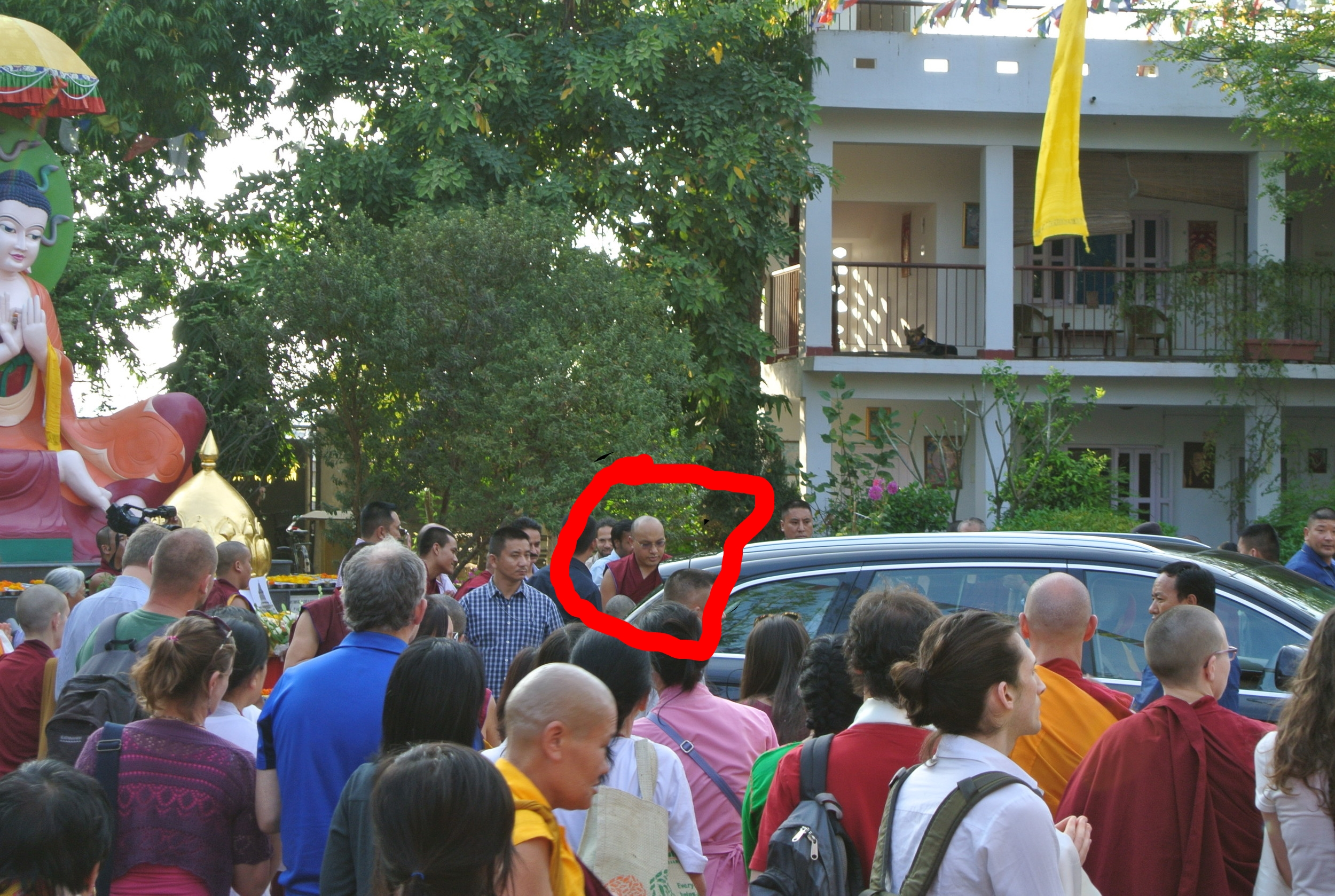 Here's the best picture I could get of the Karmapa