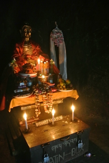 The cave where Buddha starved himself while meditating