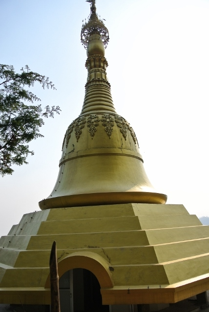 The pagoda at the meditation center in Nepal