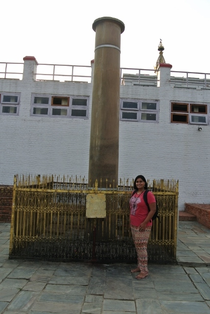 One of the 19 surviving pillars built by Emperor Ashoka throughout South Asia, this one was placed when he visited Lumbini in 245 B.C.