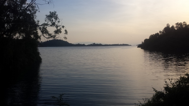 Lake Kivu from our back yard