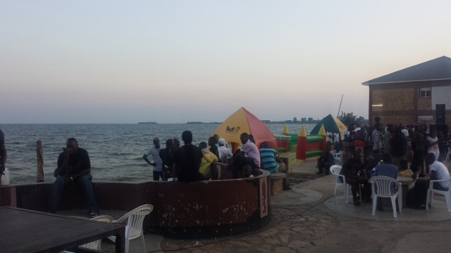 Lido Beach Resort on Lake Victoria in Entebbe.