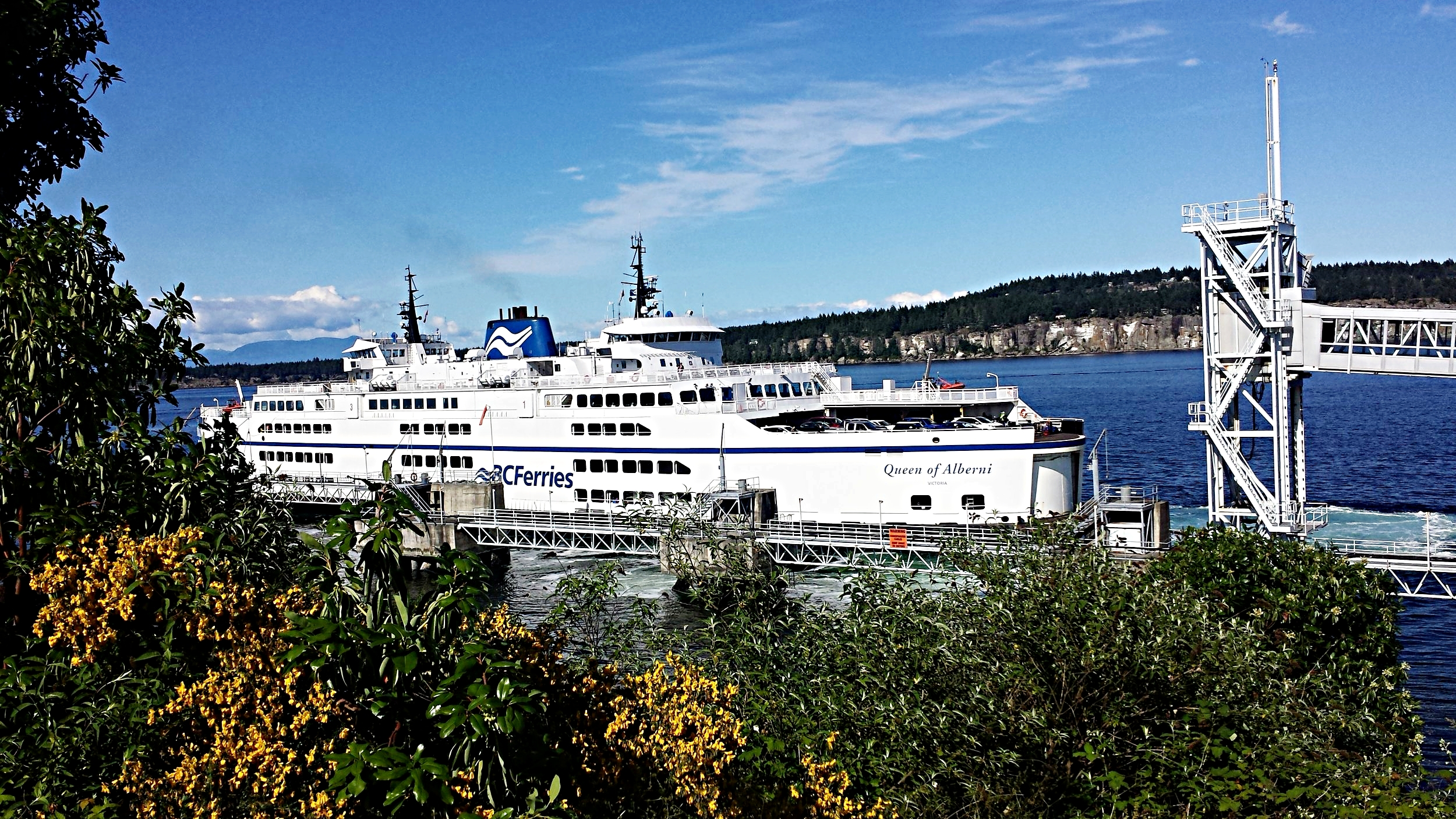 One of the gigantic efficient BC Ferries, I love public transport in British Columbia, Canada.