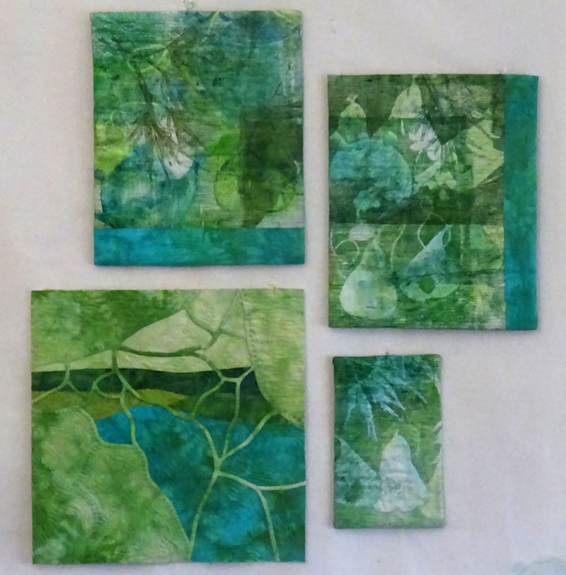 """ Turquoise and Green""  © 2017 CarolynCollinsArt   Set of 4 pieces"