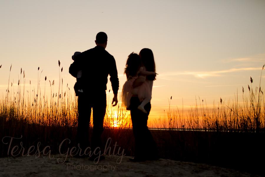 Long Island Sunset Beach Family photography