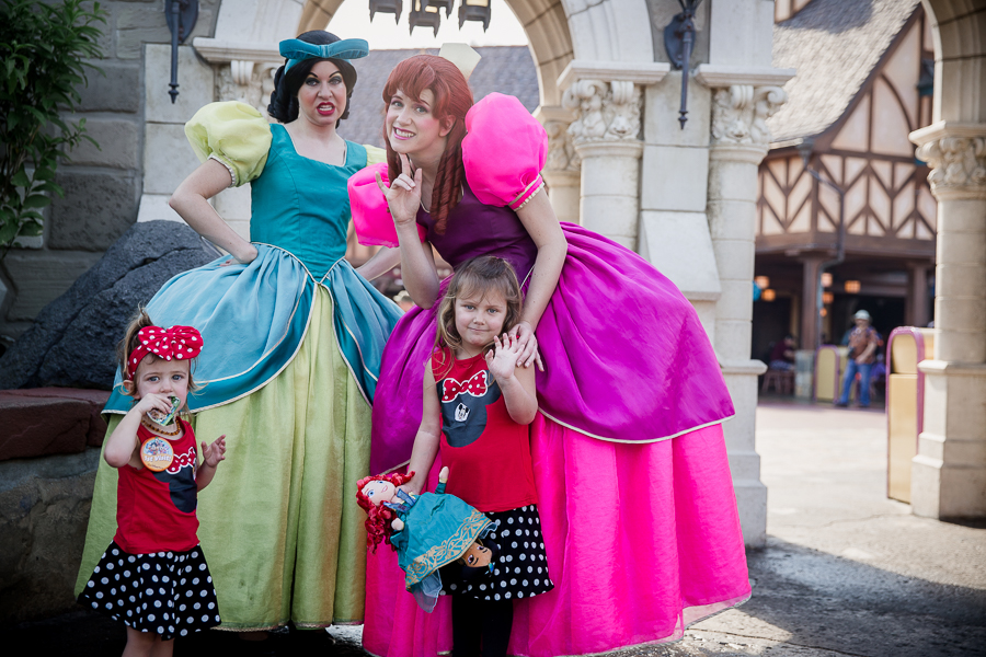toddler girls with cinderella sisters