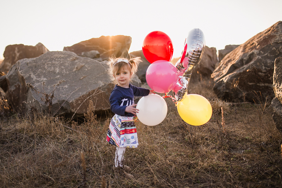 Boho Golden Hour Children's birthday portraits