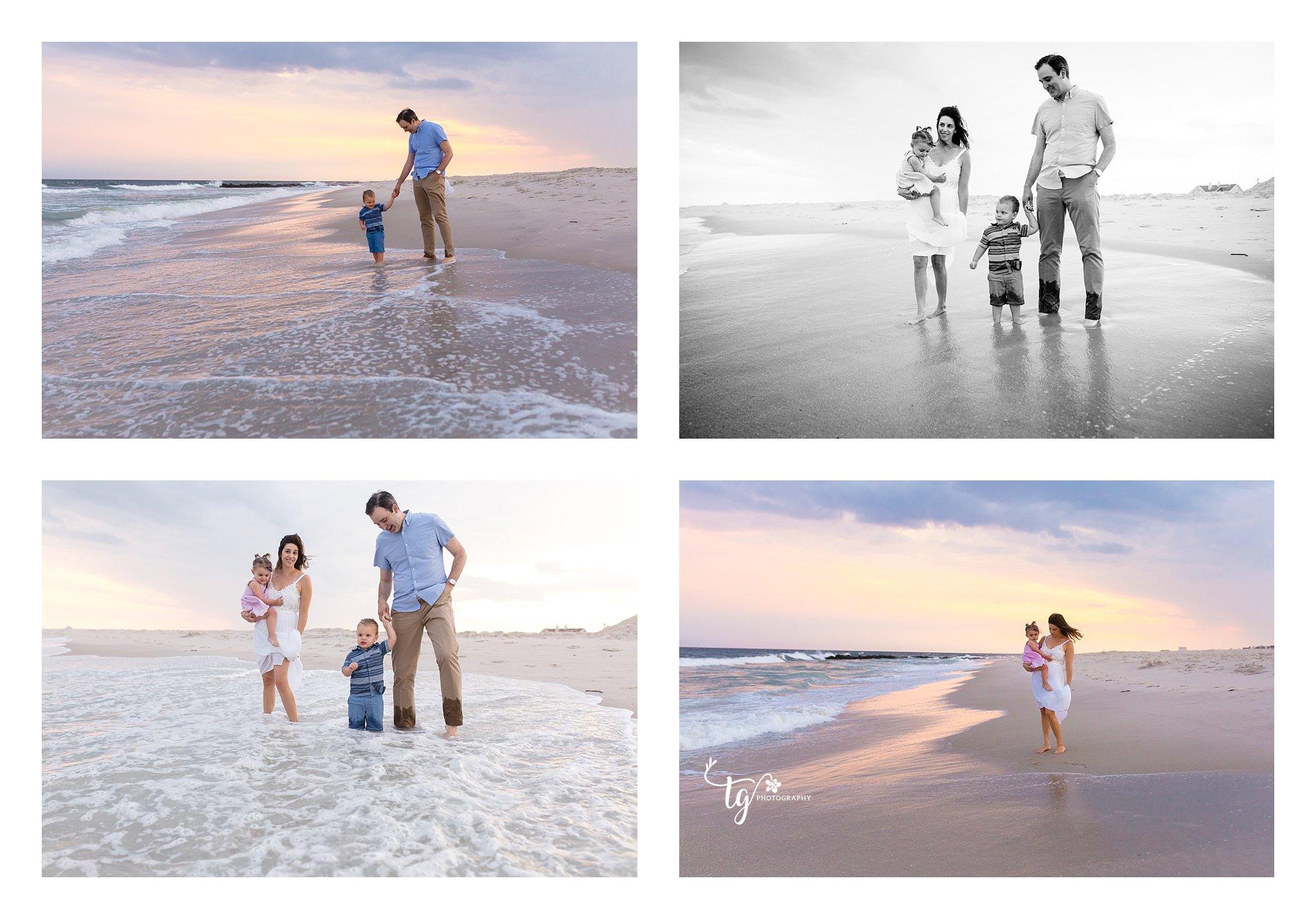 long island sunset beach family photographer