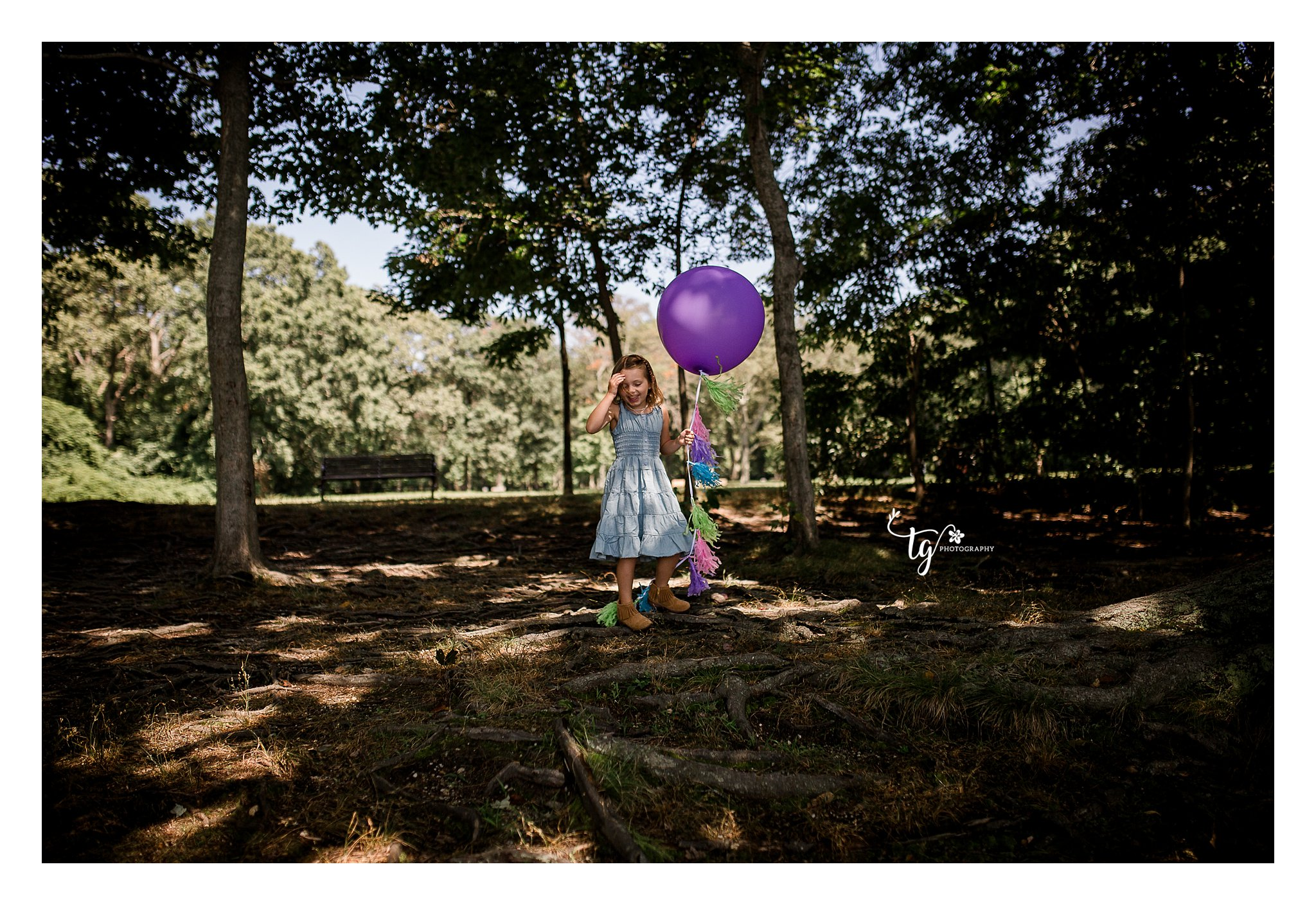 outdoor children's birthday photography