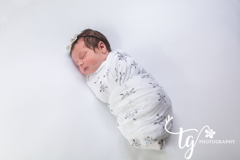 white background baby photography