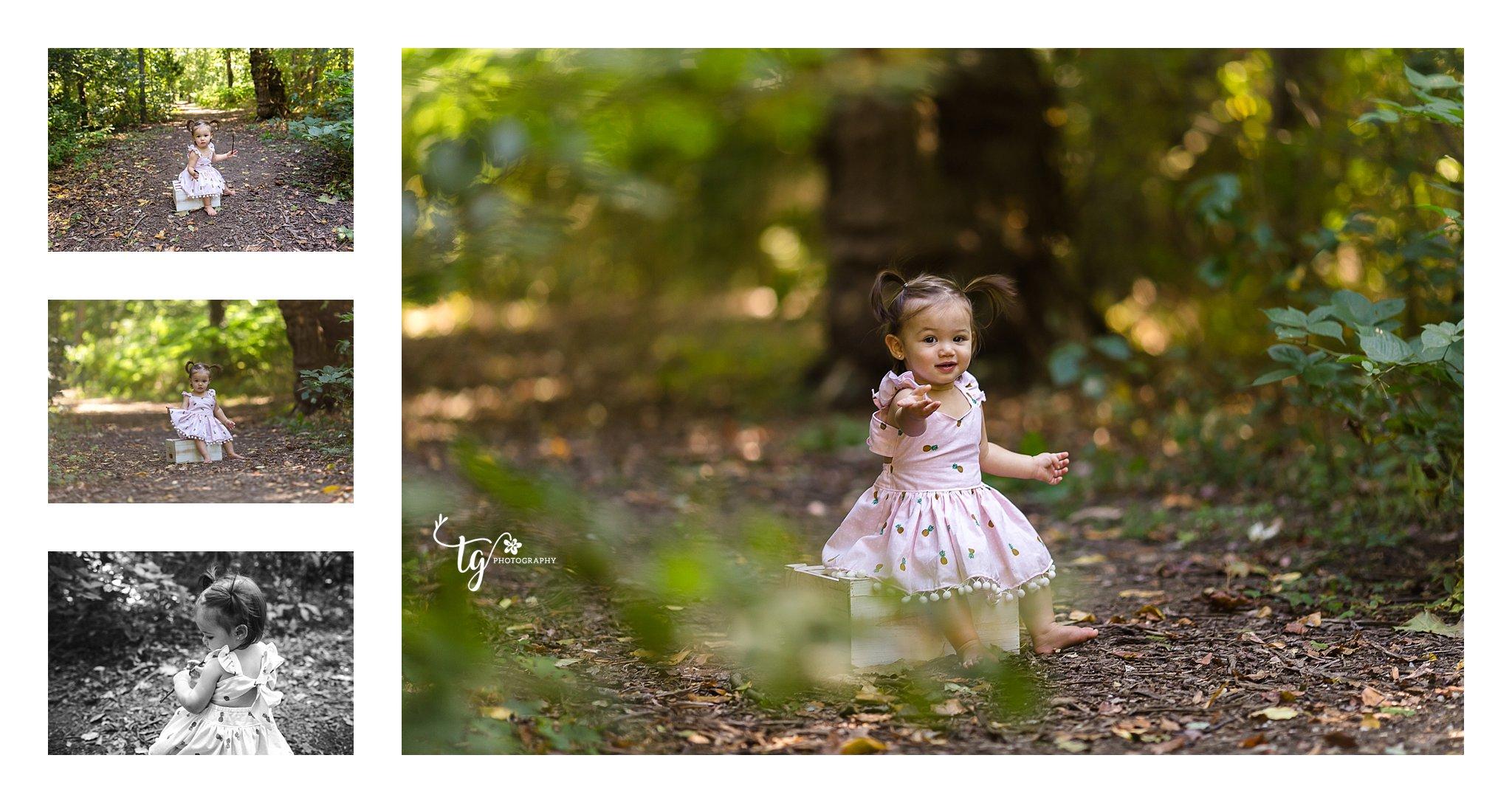 girl in beautiful pineaplle print dress