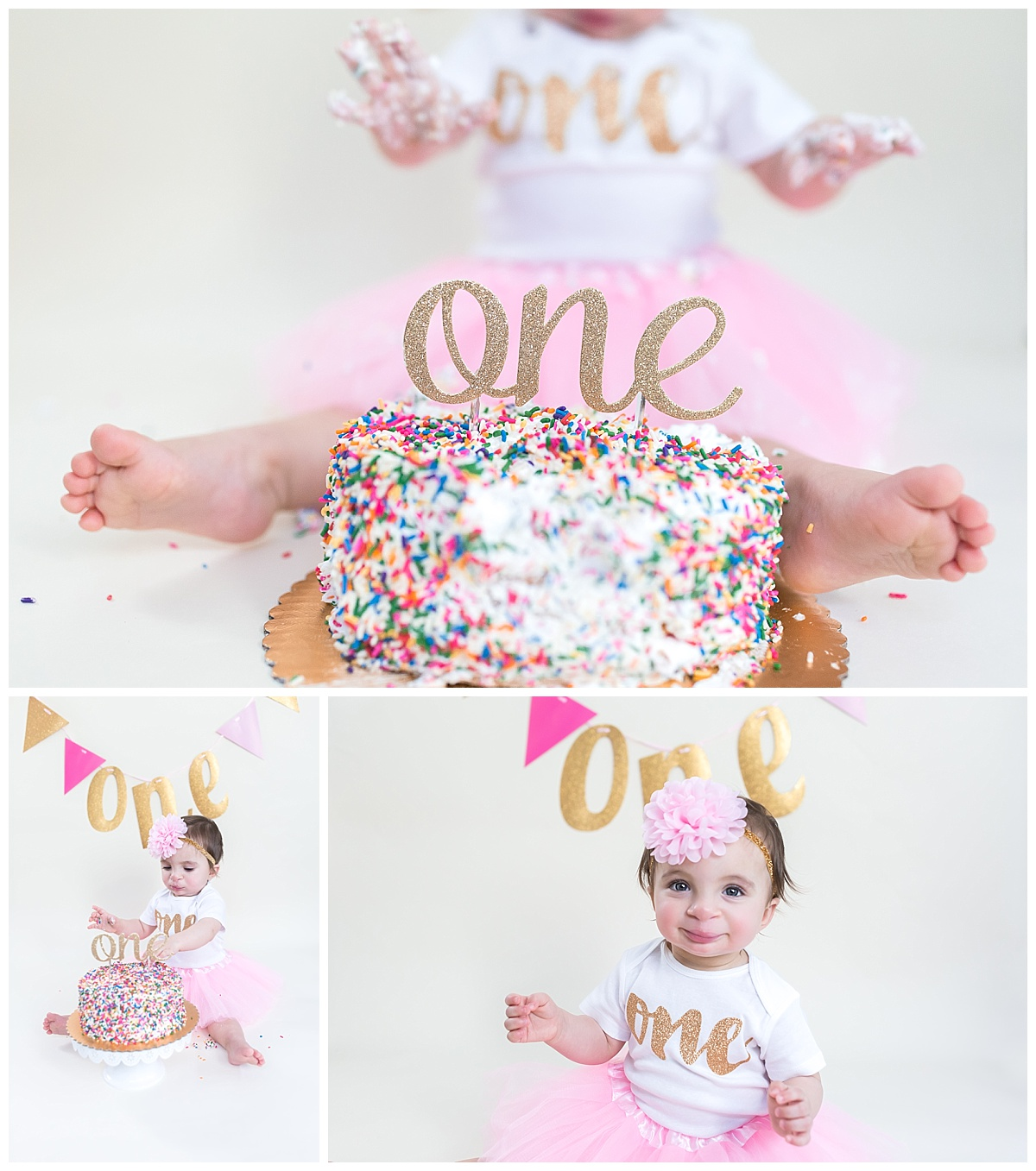 clean and classic first birthday photography