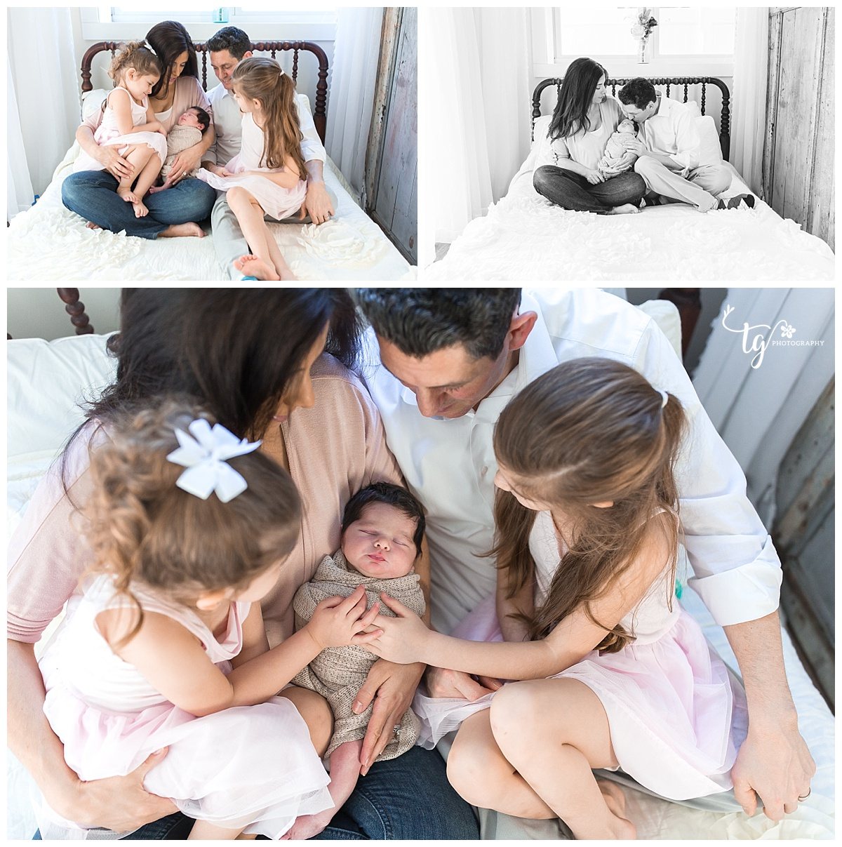 casual and relaxed studio newborn sessions