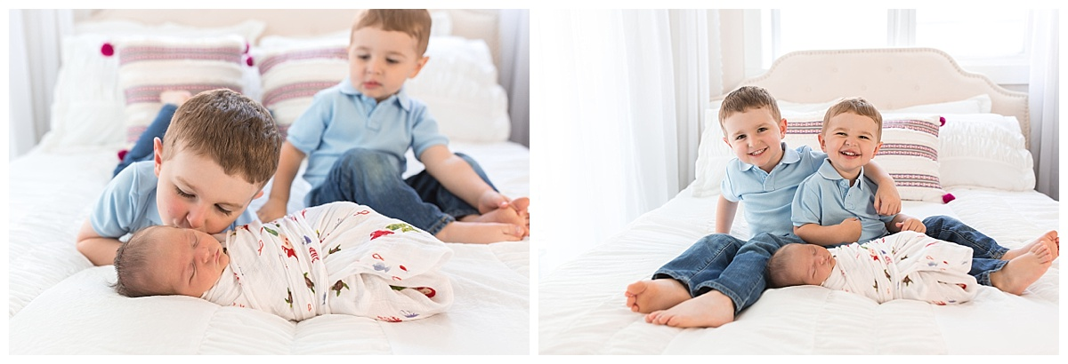 natural sibling newborn photos