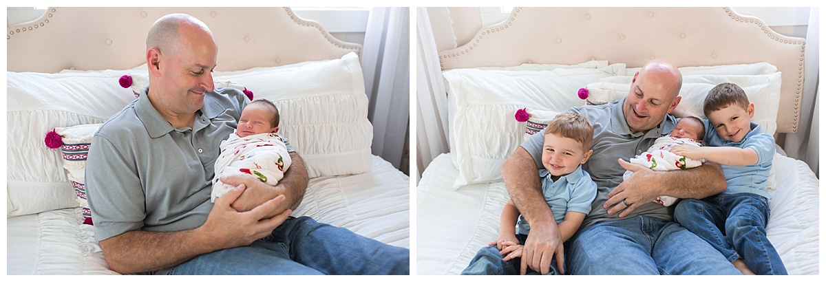 candid and relaxed newborn photos