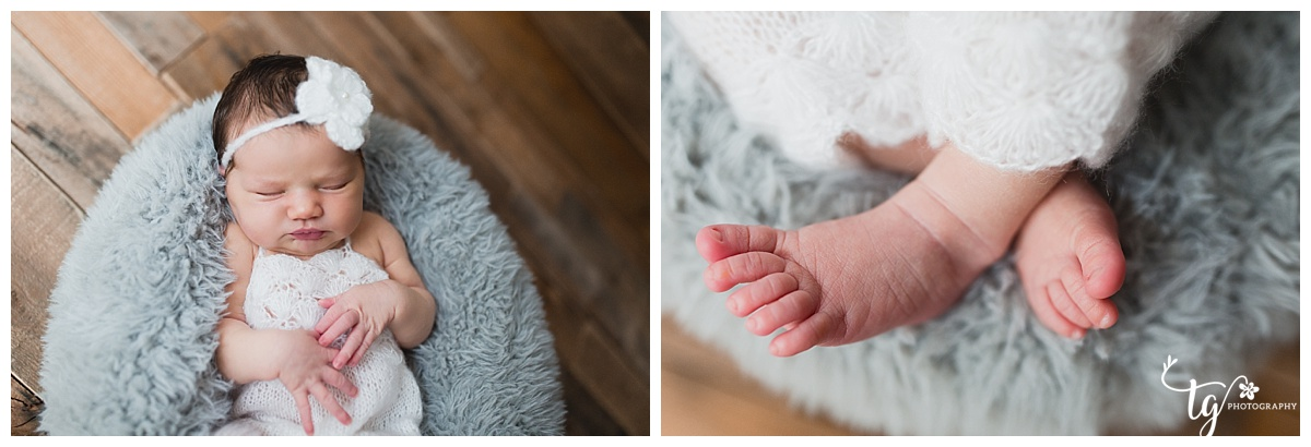 rustic and vintage inspired newborn photos