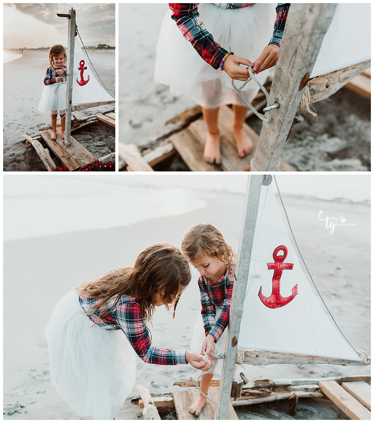 nautical holiday mini session