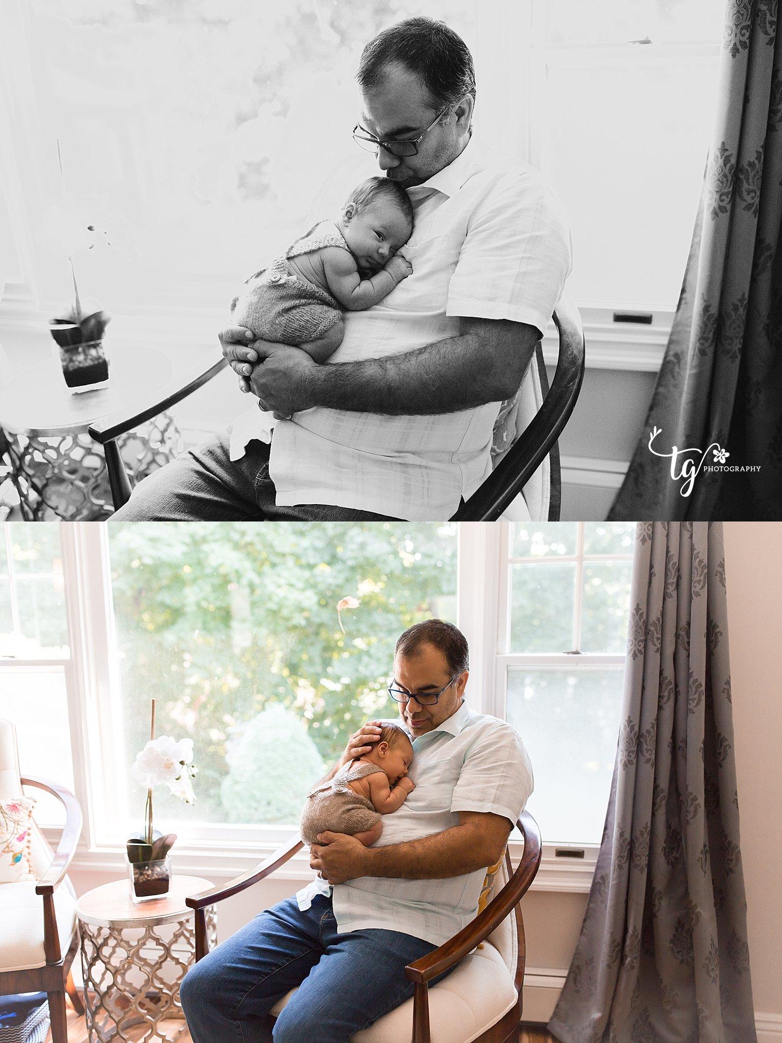 father and newborn child