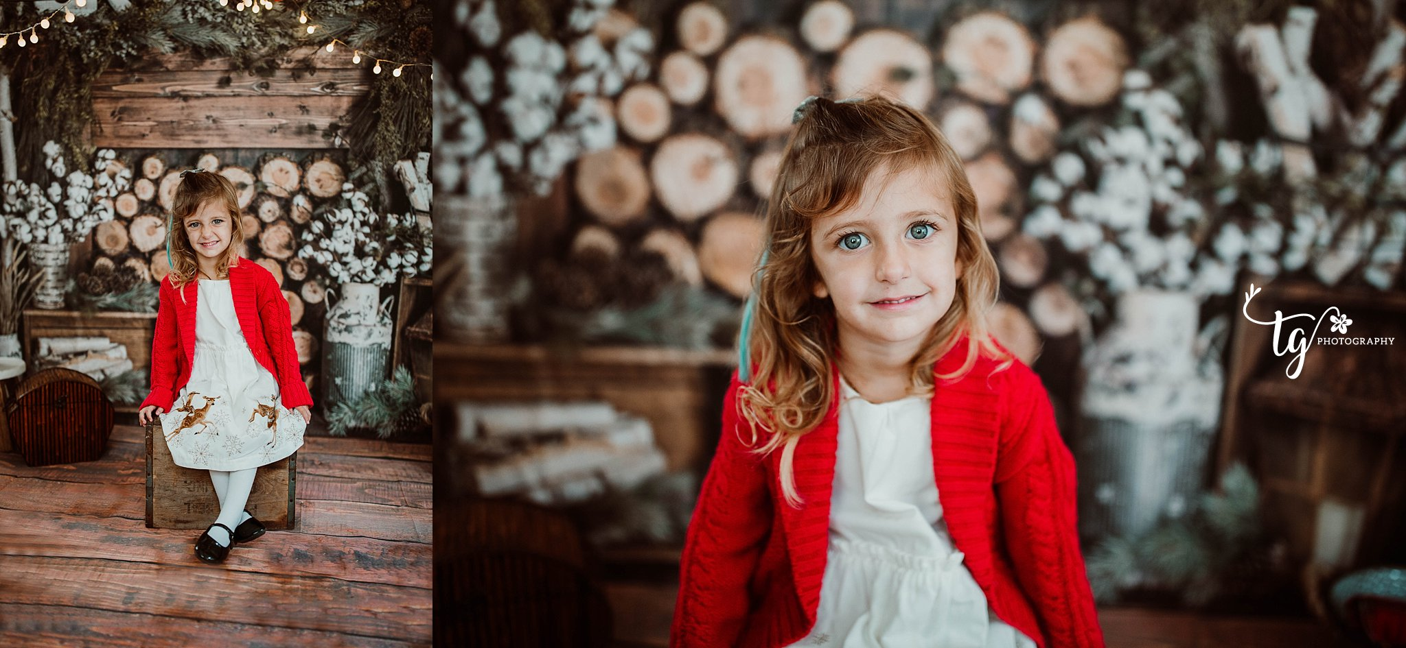 rustic cabin holiday mini session