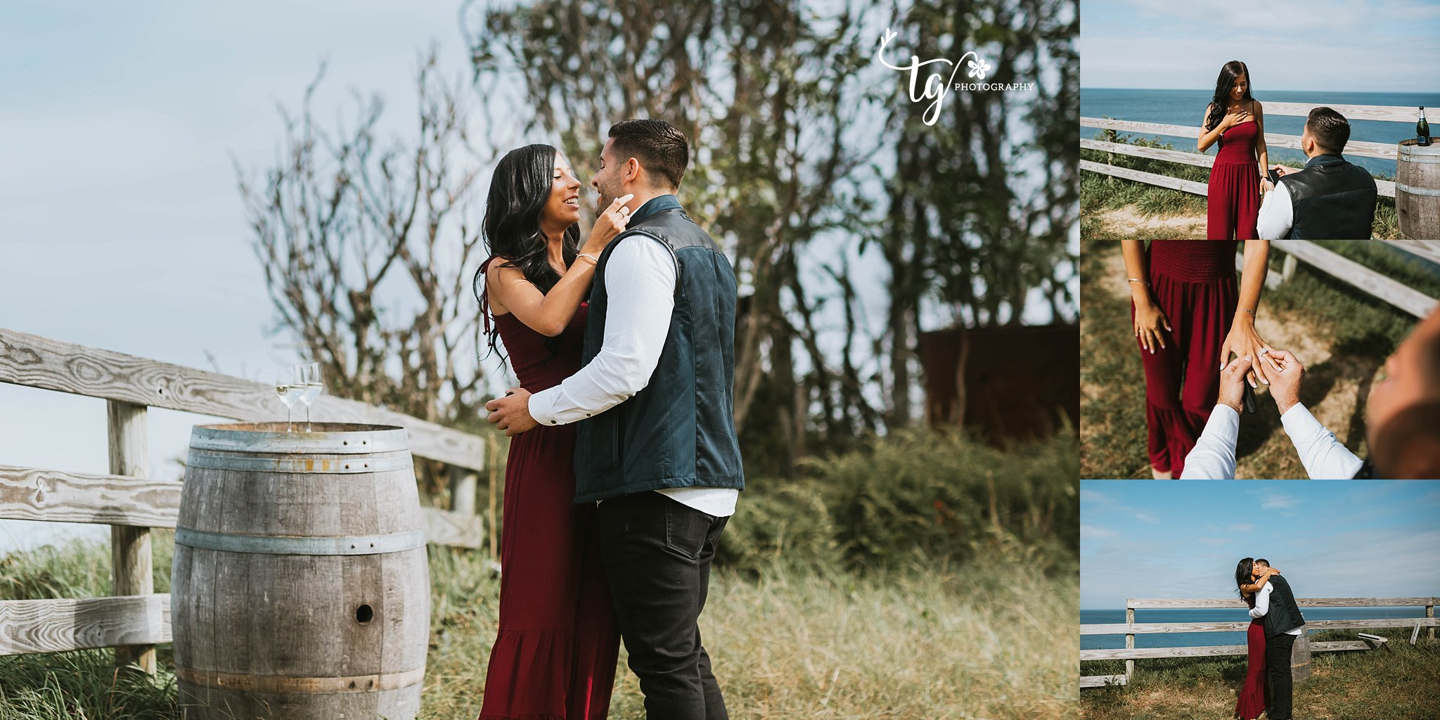 Long Island vineyard engagement photographer