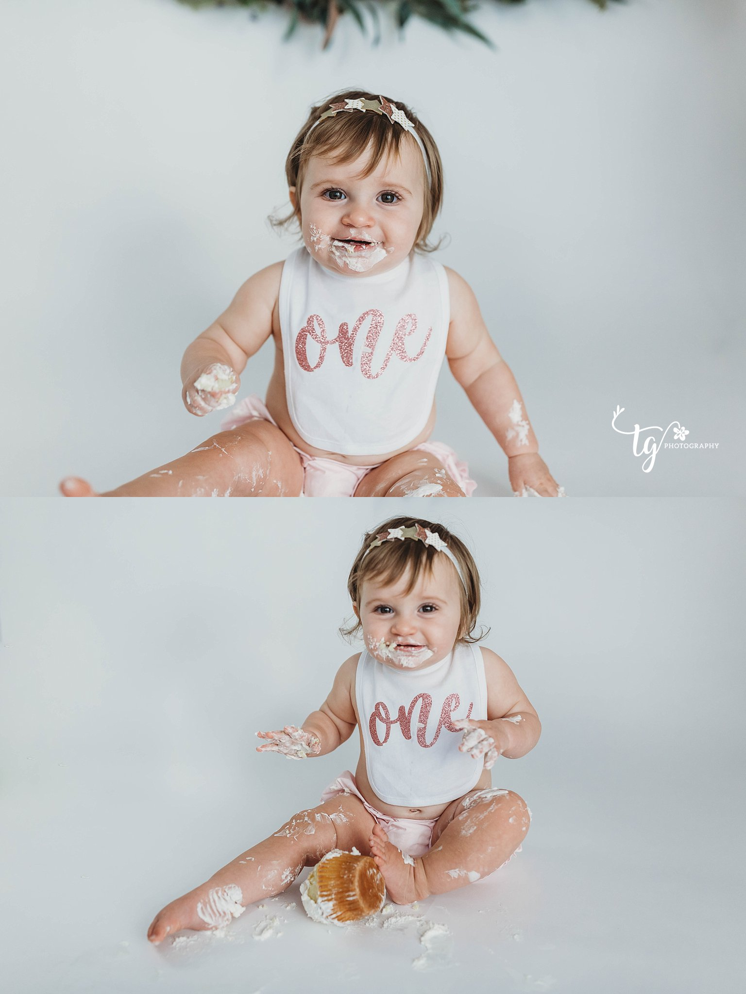clean and classic cake smash photos