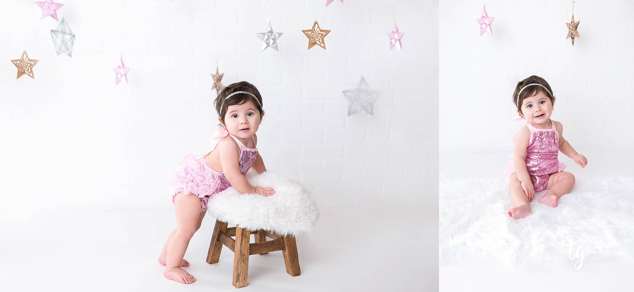 twinkle twinkle little star themed first birthday session
