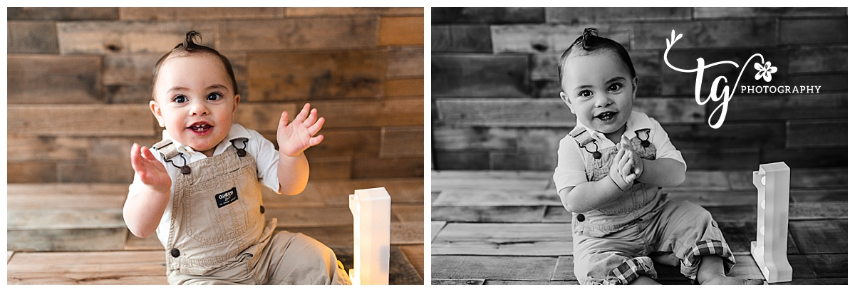 natural and classic birthday portraits of one year old