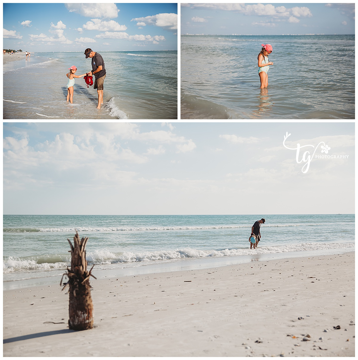 shelling family on Sanibel island