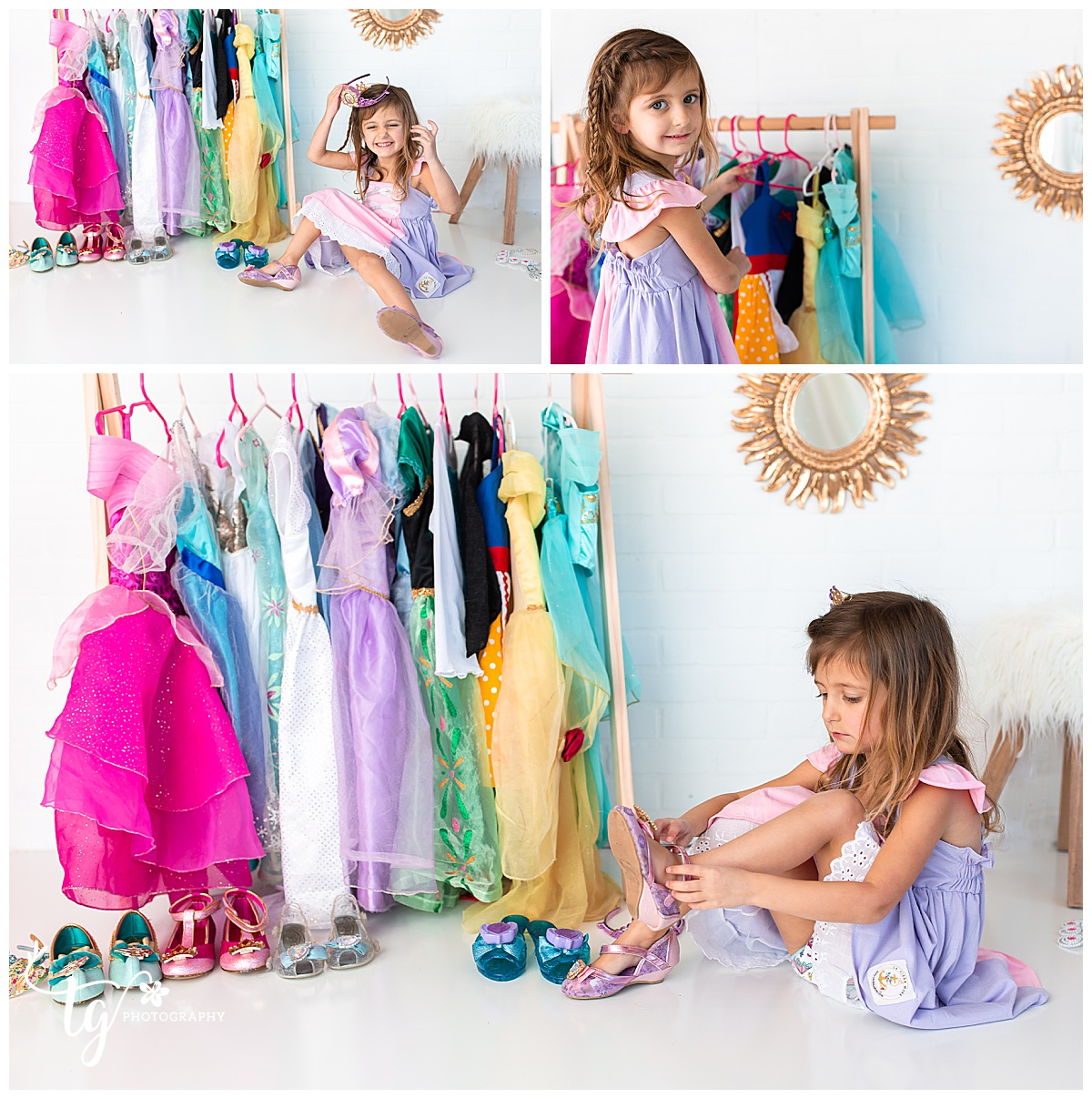 Disney princess inspired birthday photo session