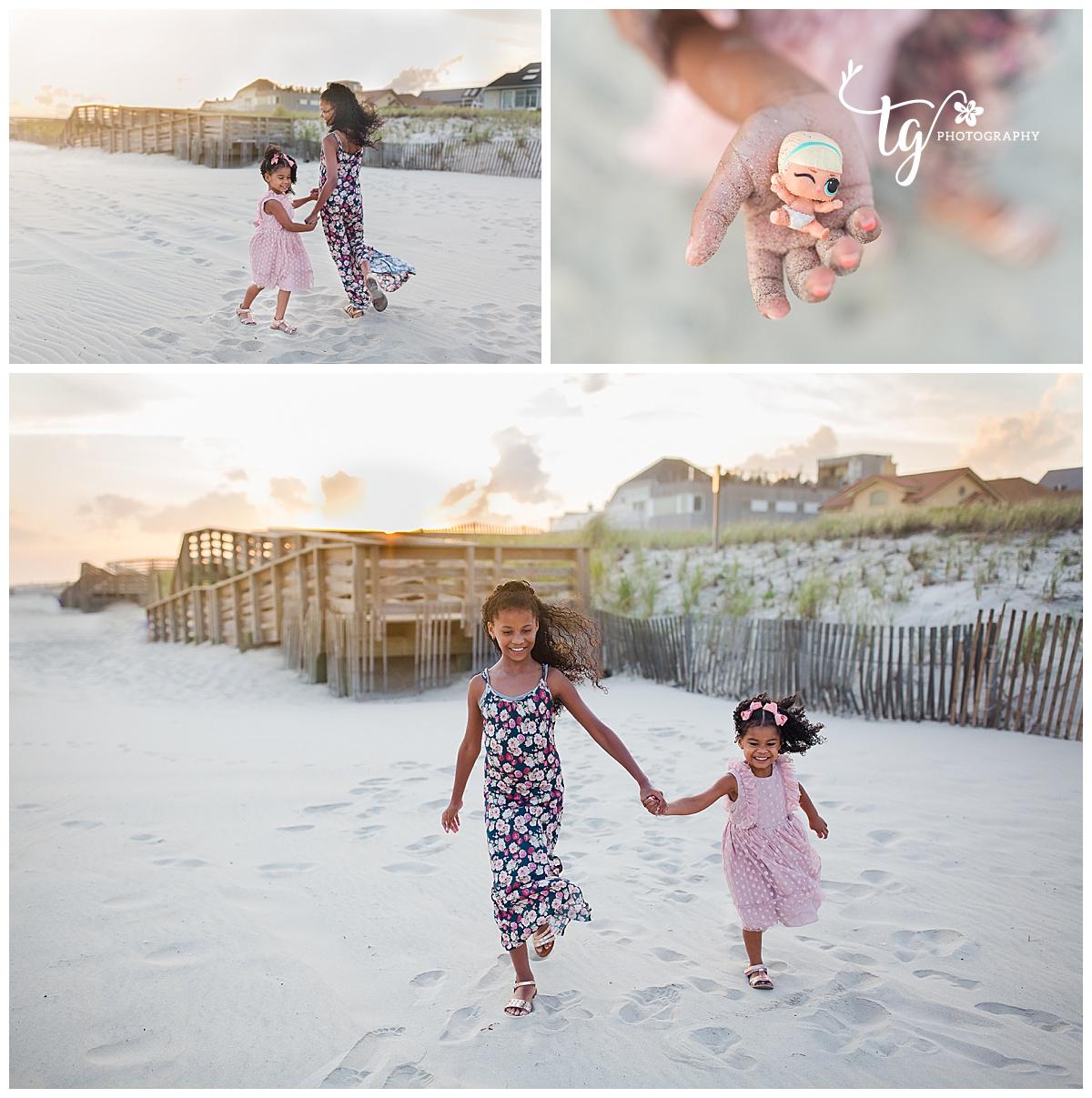 children's beach sunset mini session