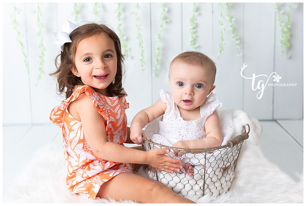 six month old mini session