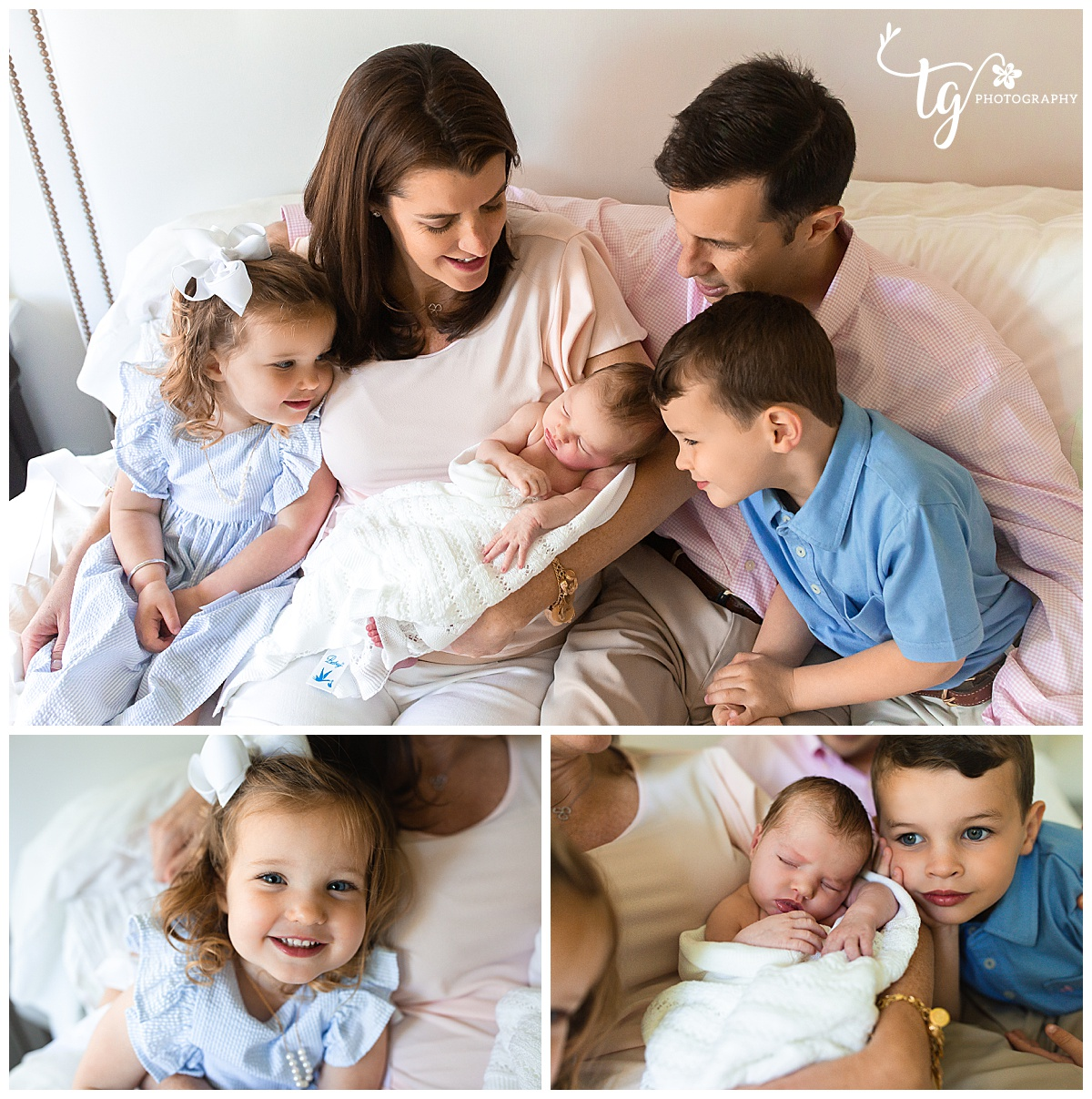 2019-05-27_0004.jpgfamily  sitting on bed looking at newborn baby and smiling