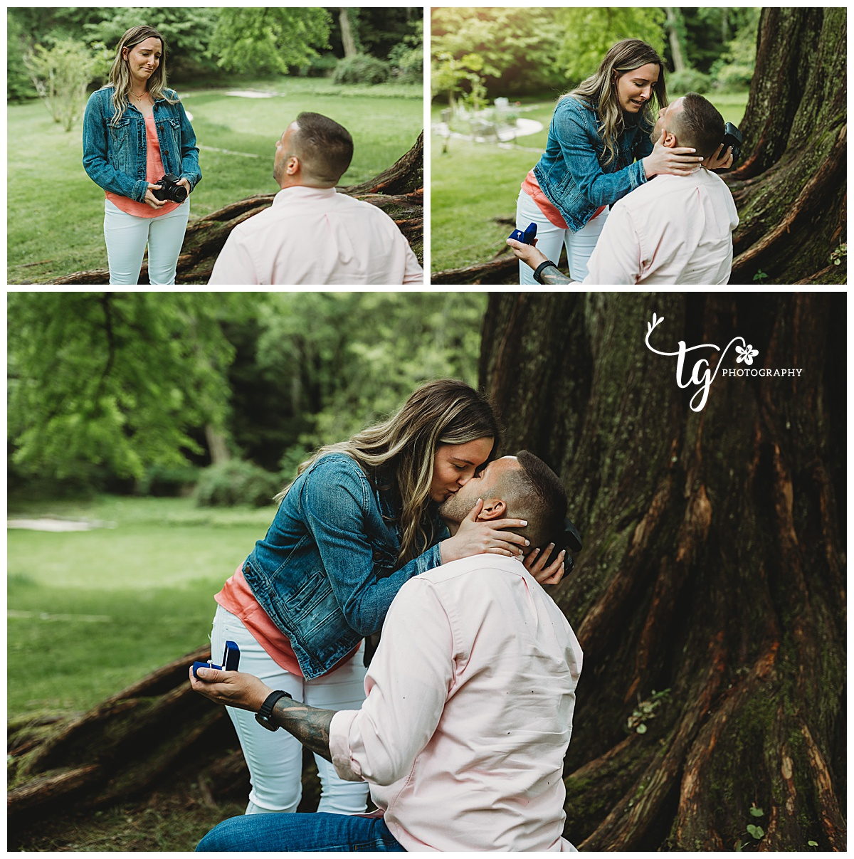 Mattituck surprise proposal photographer