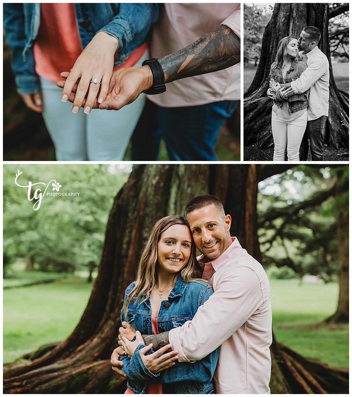 natural and organic engagement photo session
