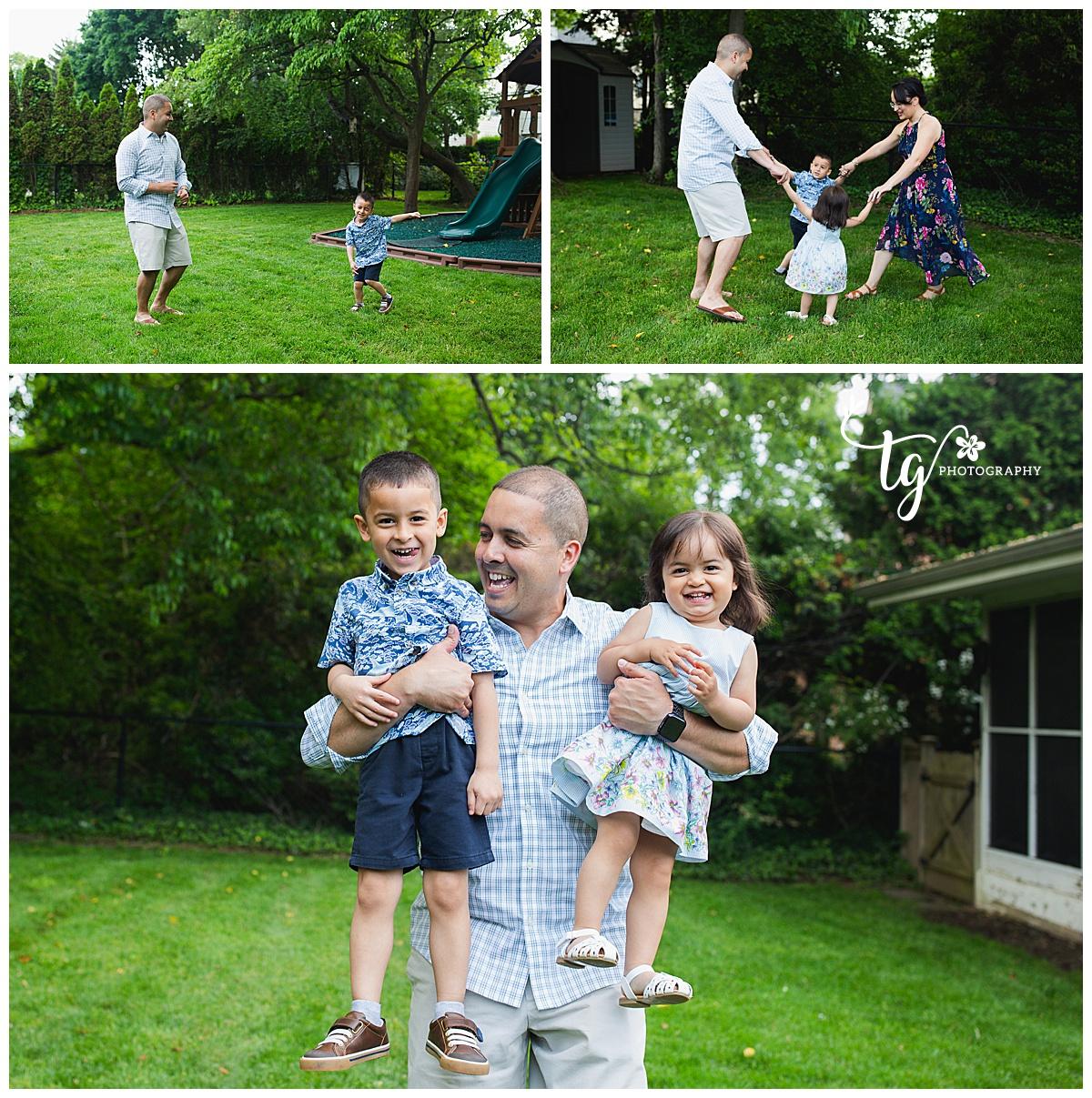 backyard family photo session