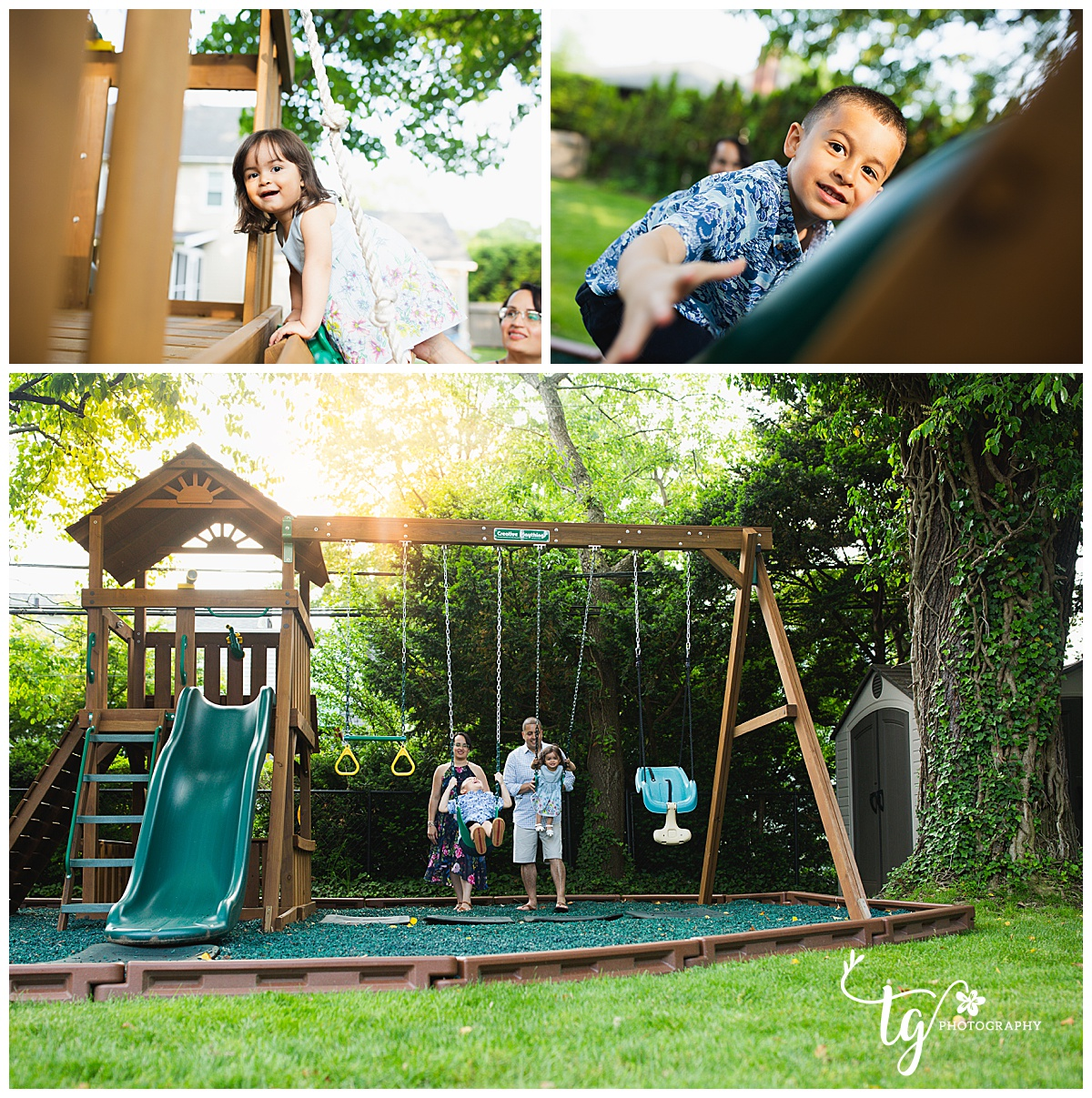 playful family session
