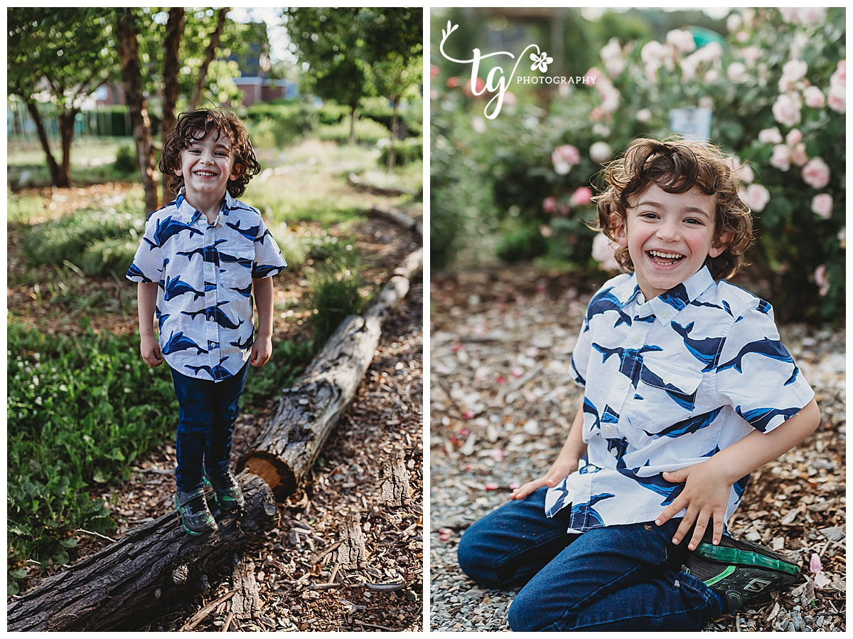 children's photos on a farm