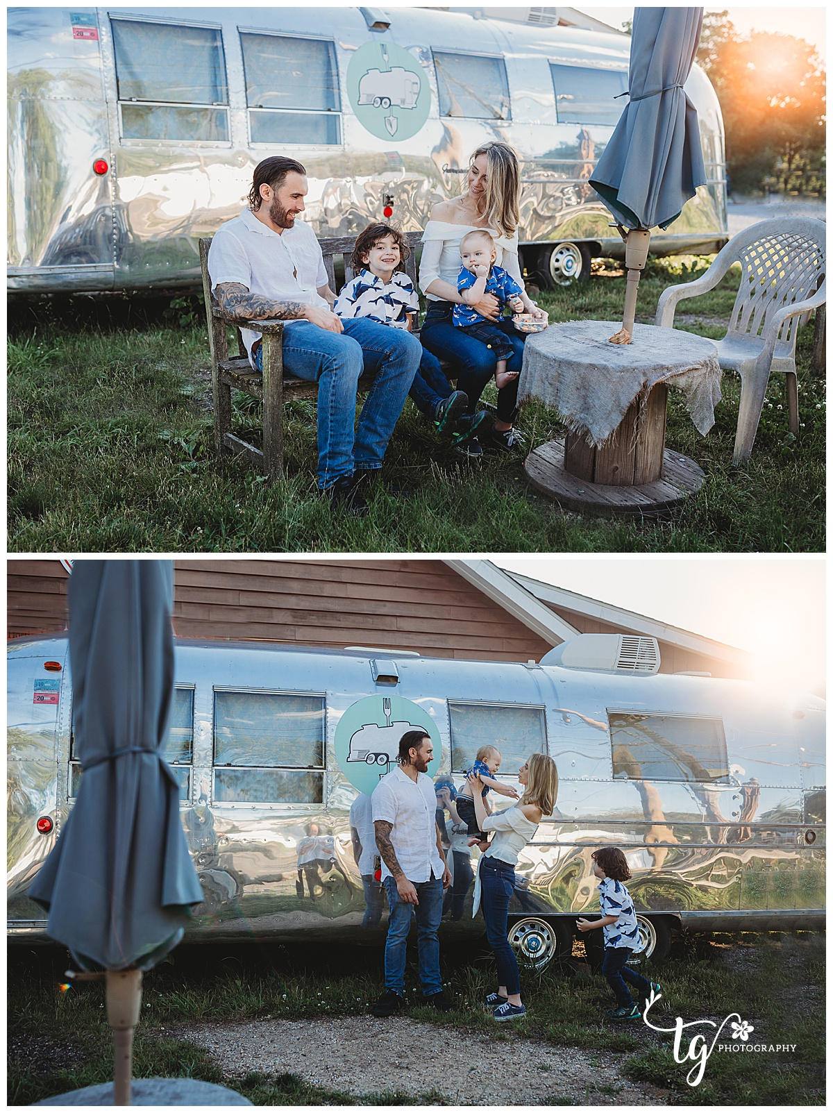 family photo session at a Farm