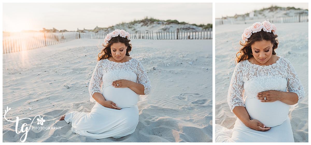 beach maternity photographer
