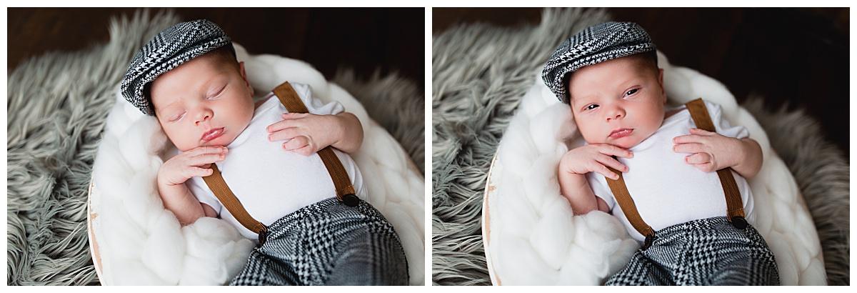 simple posed newborn session