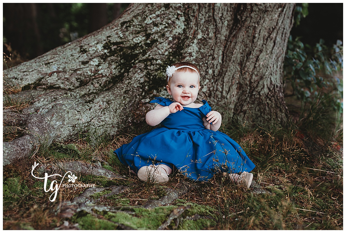 natural first birthday photo session