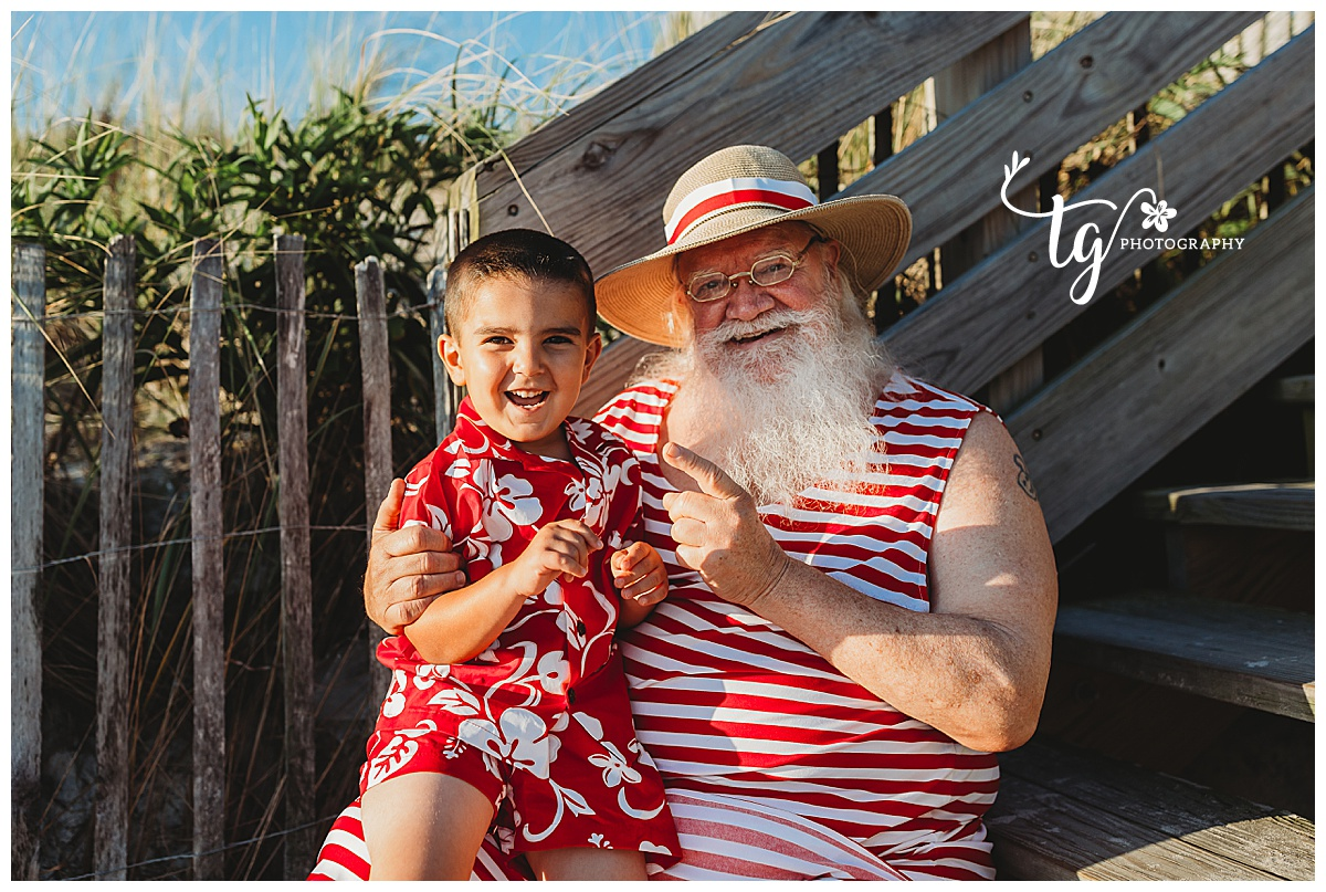 Children's holiday photography for beach photos
