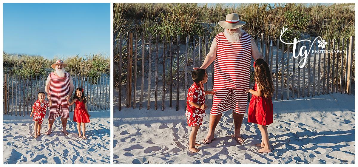 vintage styled Santa beach photo session