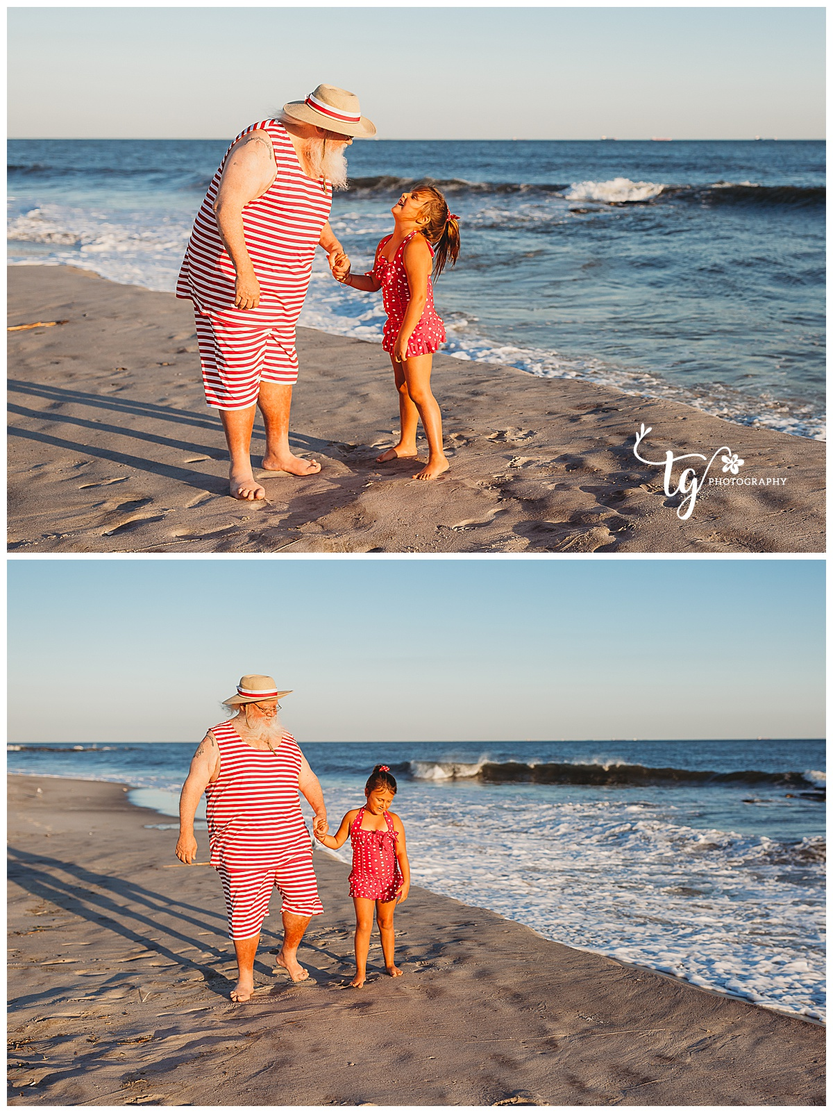 Santa beach holiday photo session