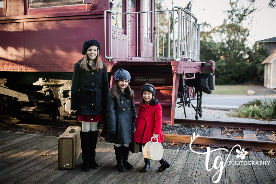 vintage styled holiday photo session