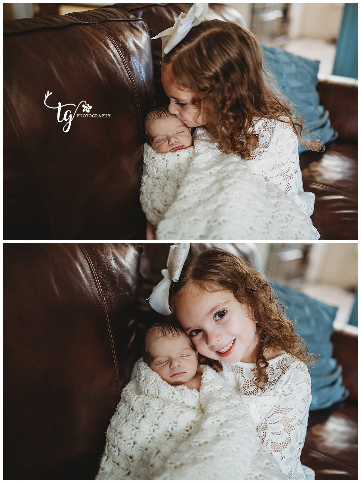 in home newborn photographer for family photos