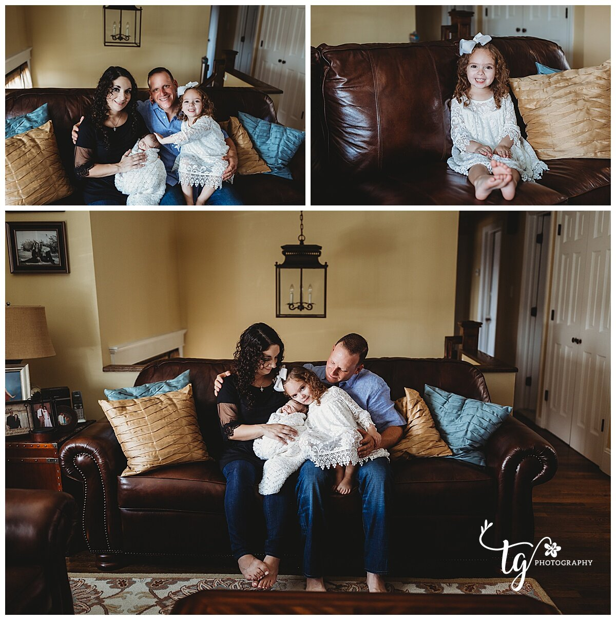 natural newborn photography in the home