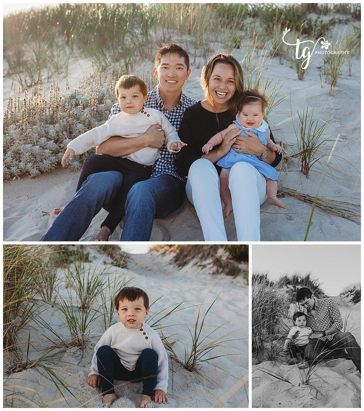 natural beach family photographer