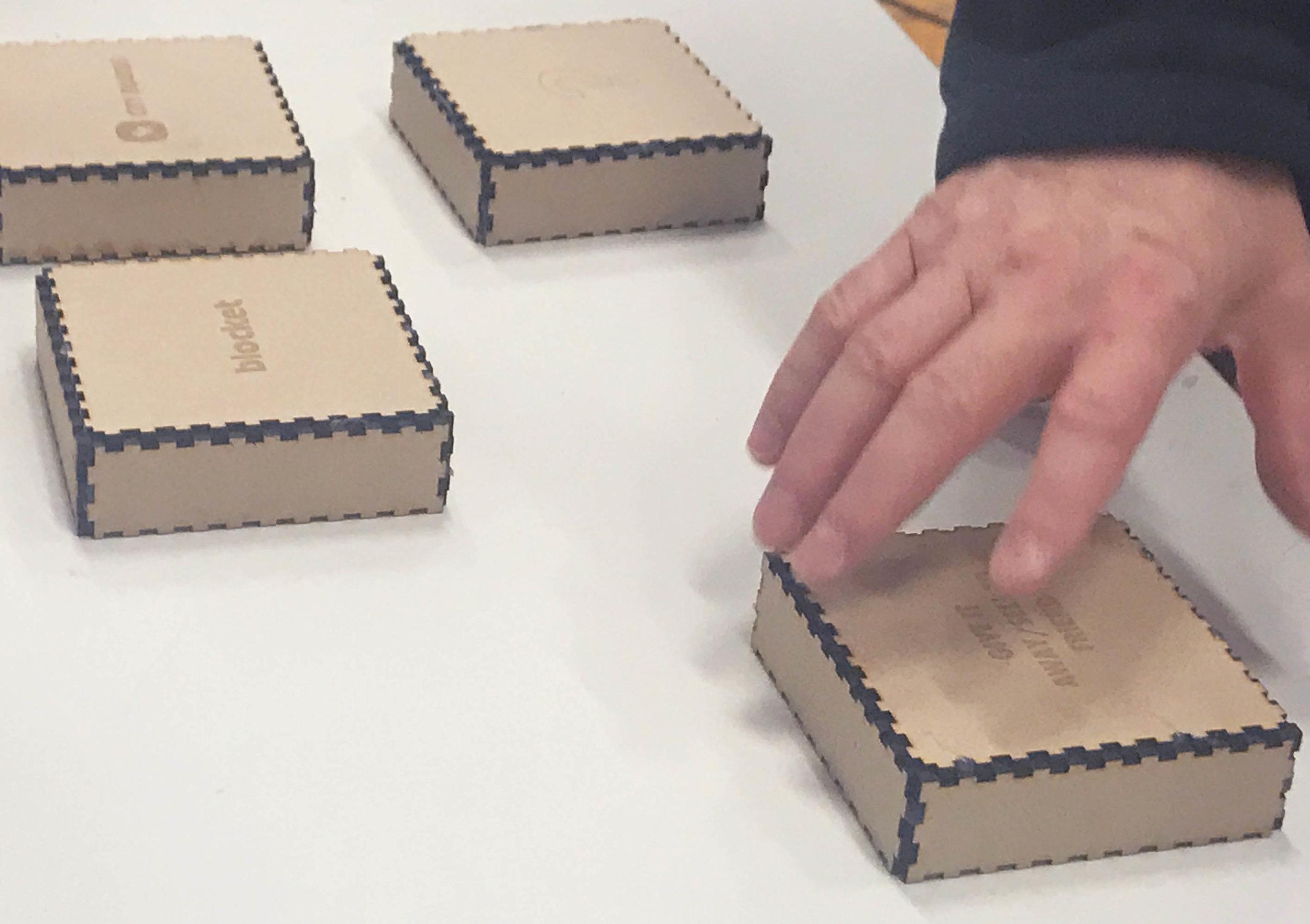 Under each box a guiding note was hidden